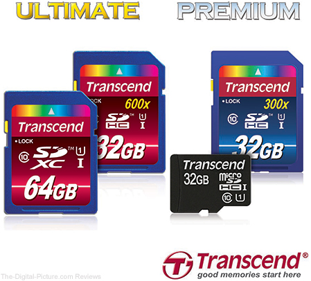 Transcend Ultimate and Premium Series Memory Cards