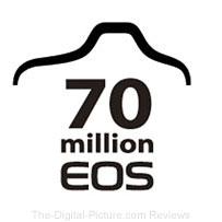 Canon 70 Million EOS Interchangeable Lens Cameras Logo