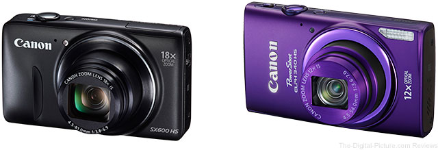 Canon PowerShot SX600 HS and ELPH 340HS Digital Cameras