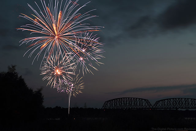 Fireworks Display Over the Ohio River 2013