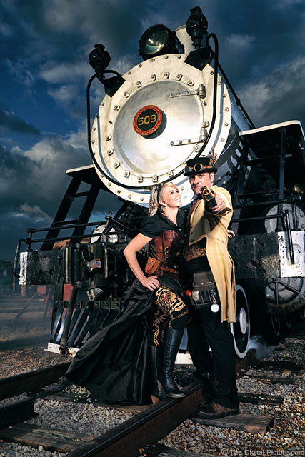 James and Amy's Steam Punk Engagement Shoot