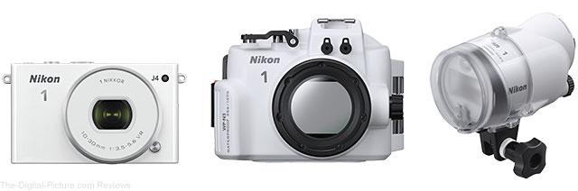 Nikon 1 J4 Mirrorless ILC with WP-N3 Waterproof Case and SB-N10 Underwater Speedlight