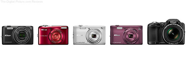 Nikon Announces 5 New COOLPIX Cameras