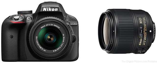 Nikon D3300 DSLR Camera Kit and AF-S NIKKOR 35mm f/1.8G-Lens