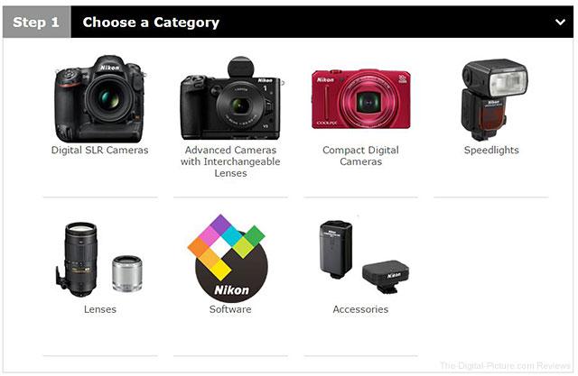 Nikon Download Center Screenshot