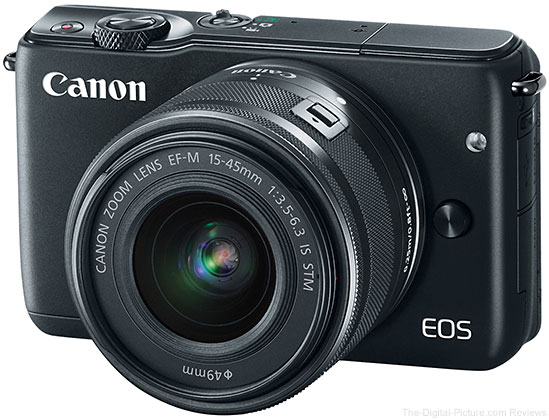 Canon EOS M10 Mirrorless Camera with EF-M 15-45mm IS STM Lens