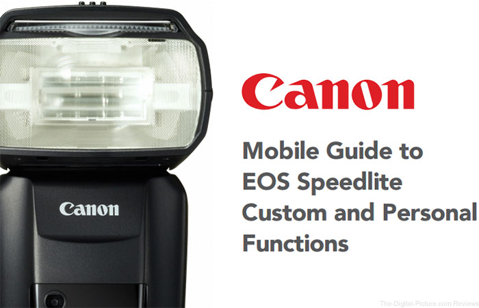 Mobile Guide to EOS Speedlite Custom and Personal Functions
