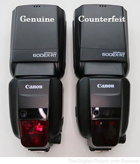Canon Speedlite 600EX RT Counterfeit Overall View