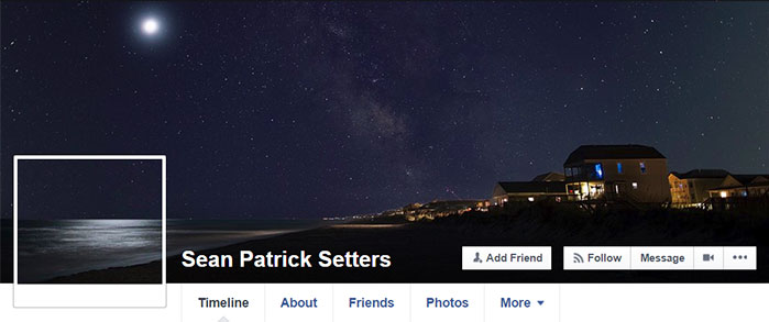 Facebook Cover Photo Continuous Image Example