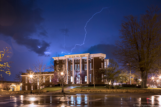 Lightning Over the Historic Putnam County Courthouse