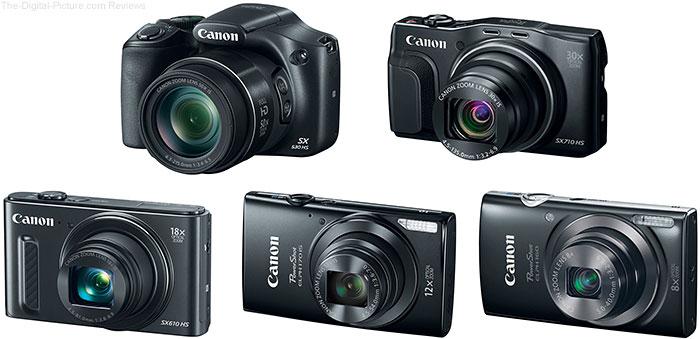 New Canon PowerShot Cameras Announced January 5, 2014