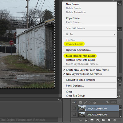 Photoshop CC Timeline Window Make Frames From Layers