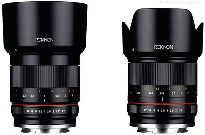 Rokinon 50mm f/1.2 and 21mm f/1.4 Lenses for Mirrorless
