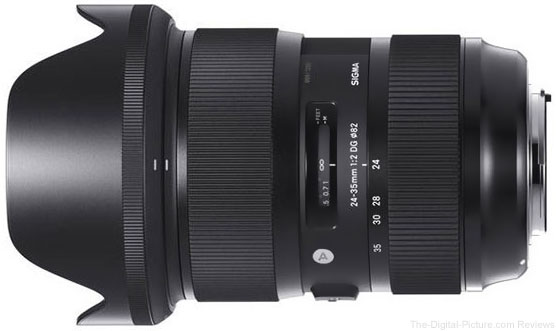 Sigma 24-35mm f/2 DG HSM Art Lens In Stock at B&H