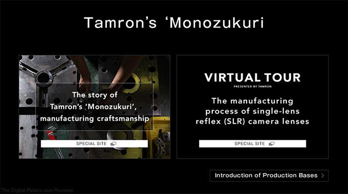 """See How Tamron Makes Lenses in """"Monozukuri"""" Virtual Tours"""