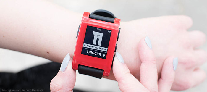 Triggertrap App on Pebble Smartwatch
