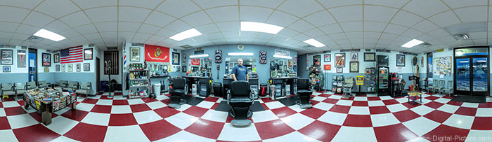 Veterans Barber Shop 360-Degree Panorama