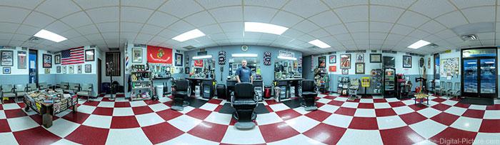 Veterans Barber Shop 360-Degree Panorama