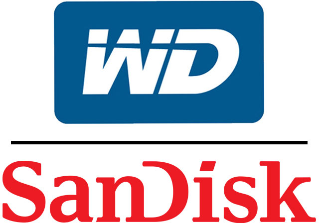 Western Digital and SanDisk Logos