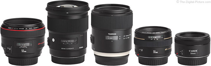Canon compatible 50mm wide-aperture prime lens comparison