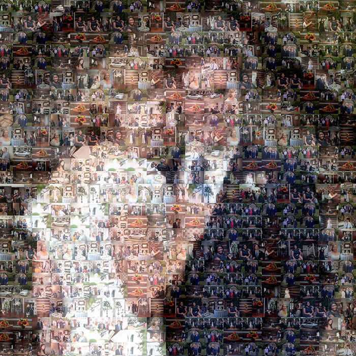 AndreaMosaic Photomosaic Sample Image by Sean Setters Closeup