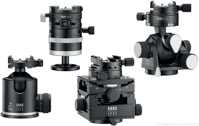 Newly Announced Arca-Swiss Tripod Heads