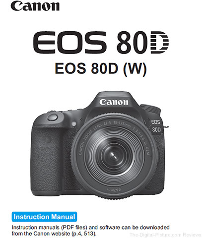 Canon EOS 80D User's Manual Available for Download