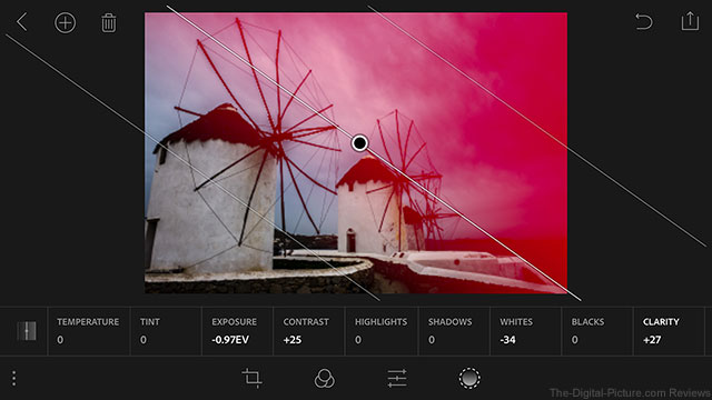 Lightroom for Mobile iOS Linear Selection