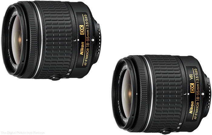 Nikon AF-P DX NIKKOR 18-55mm f/3.5-5.6G and VR Lenses