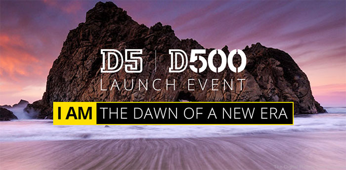 Nikon D5 / D500 Launch Events Banner
