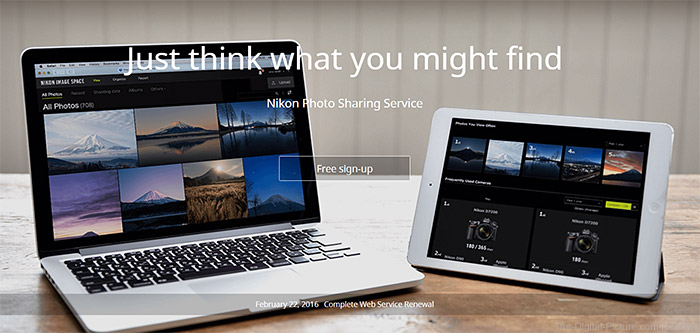 Nikon Image Space Homepage February 2016