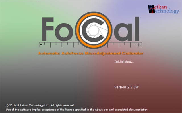 Reikan Releases FoCal 2.3 Splash Screen