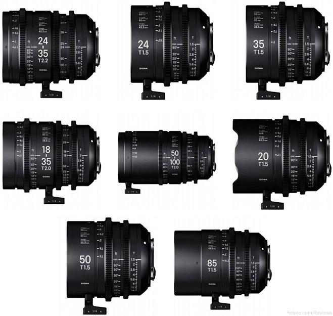 Sigma Announces Cine Lens Series