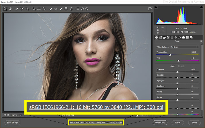 Adobe Camera RAW 16bit Settings