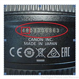 Canon EF 24 105L IS II USM Service Advisory Serial Number Image