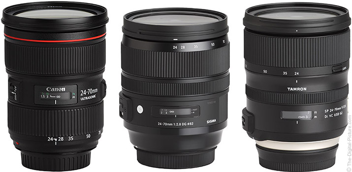 Canon EF 24-70mm f/2.8L II USM, Sigma 24-70mm f/2.8 OS Art or Tamron 24-70mm VC G2 Lens?