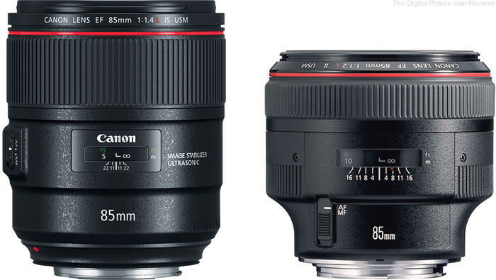should i get the canon ef 85mm f 1 4l is usm or ef 85mm f 1 2l ii usm best photography. Black Bedroom Furniture Sets. Home Design Ideas