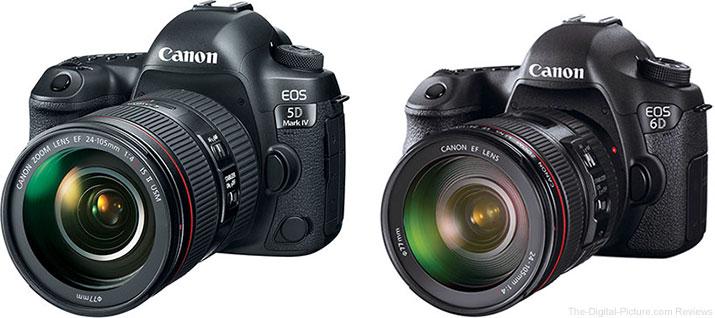 Canon EOS 5D Mark IV vs. Canon EOS 6D