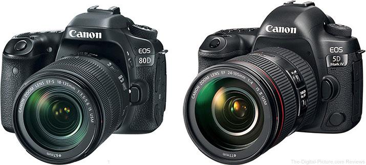 Canon EOS 80D or Canon EOS 5D Mark IV?