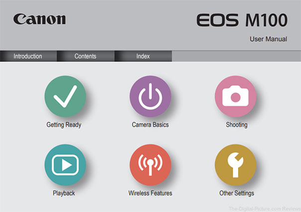 Canon EOS M100 User's Manual Available for Download