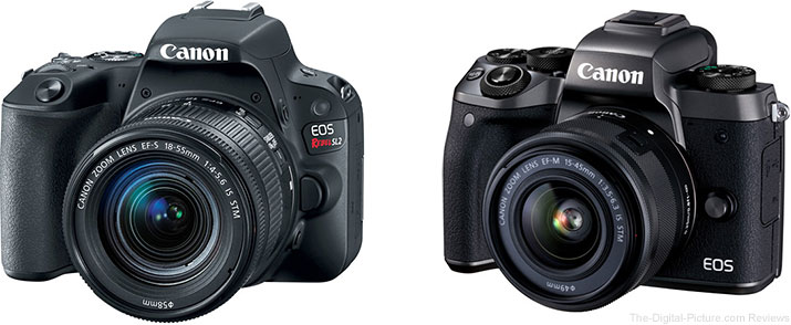 Canon EOS Rebel SL2 and EOS M5 Cameras