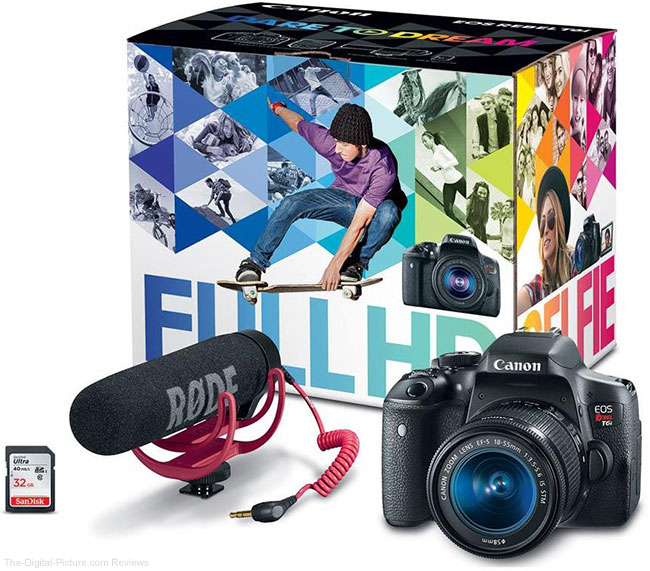 Exclusive Hot Deal: Canon EOS Rebel T6i, 18-55mm IS STM Lens, Rode Mic, SanDisk 32GB SDHC, PIXMA PRO-100 Printer, & More – Only $579.00 after MIR!