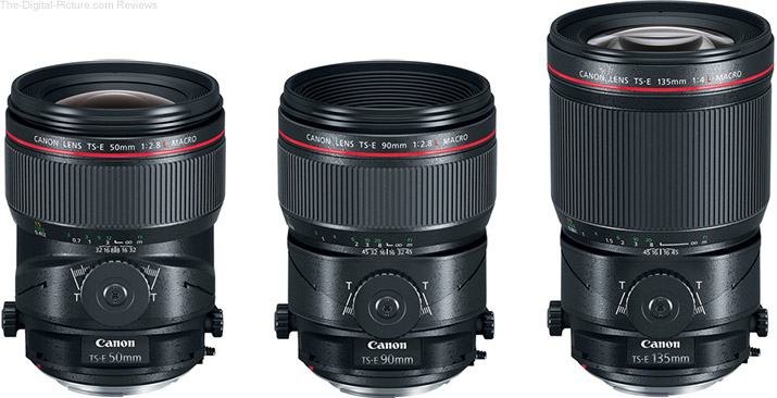 New Canon L-Series Tilt-Shift Lenses
