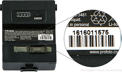 Profoto B1 Battery Label
