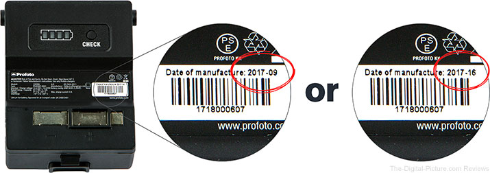 Profoto B1X Battery Label
