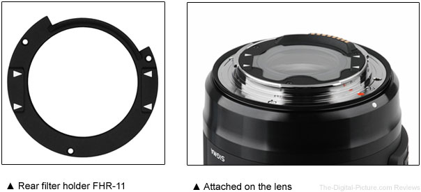 Sigma Rear Filter Holder for 14mm f 1.8 Art Lens