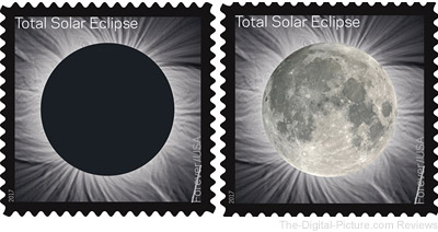 USPS Releases Total Eclipse of the Sun Forever Stamps