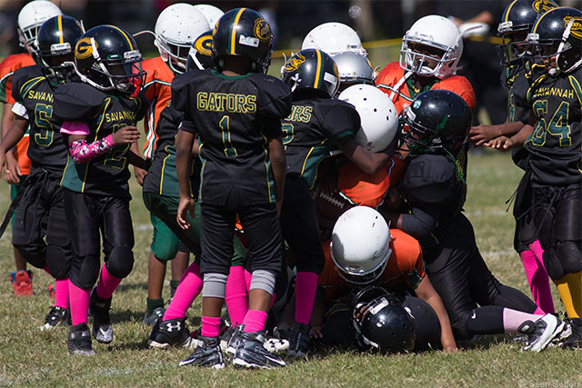Youth Football at a Park