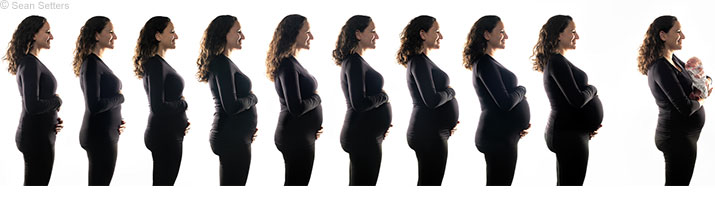 How to Photograph a Pregnancy Progression Series