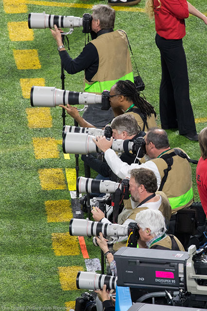 Canon Super Telephoto Lenses at Super Bowl XII